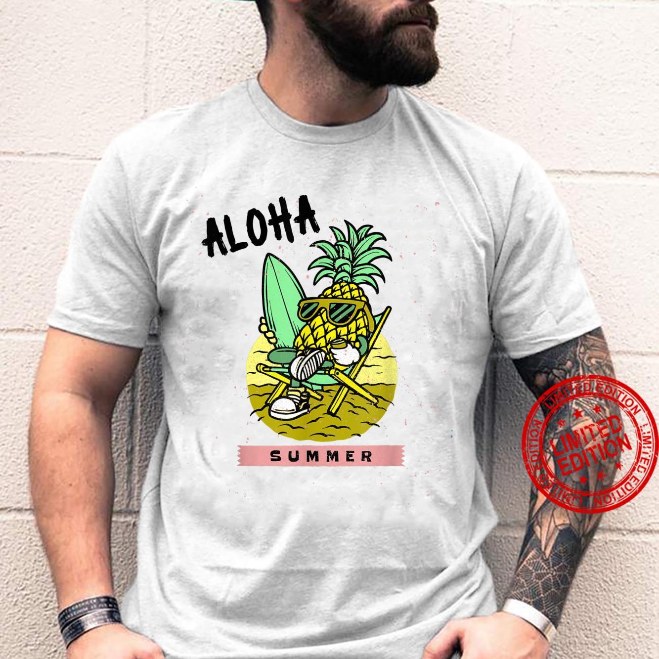Aloha Summer Pineapple Surfer Shirt