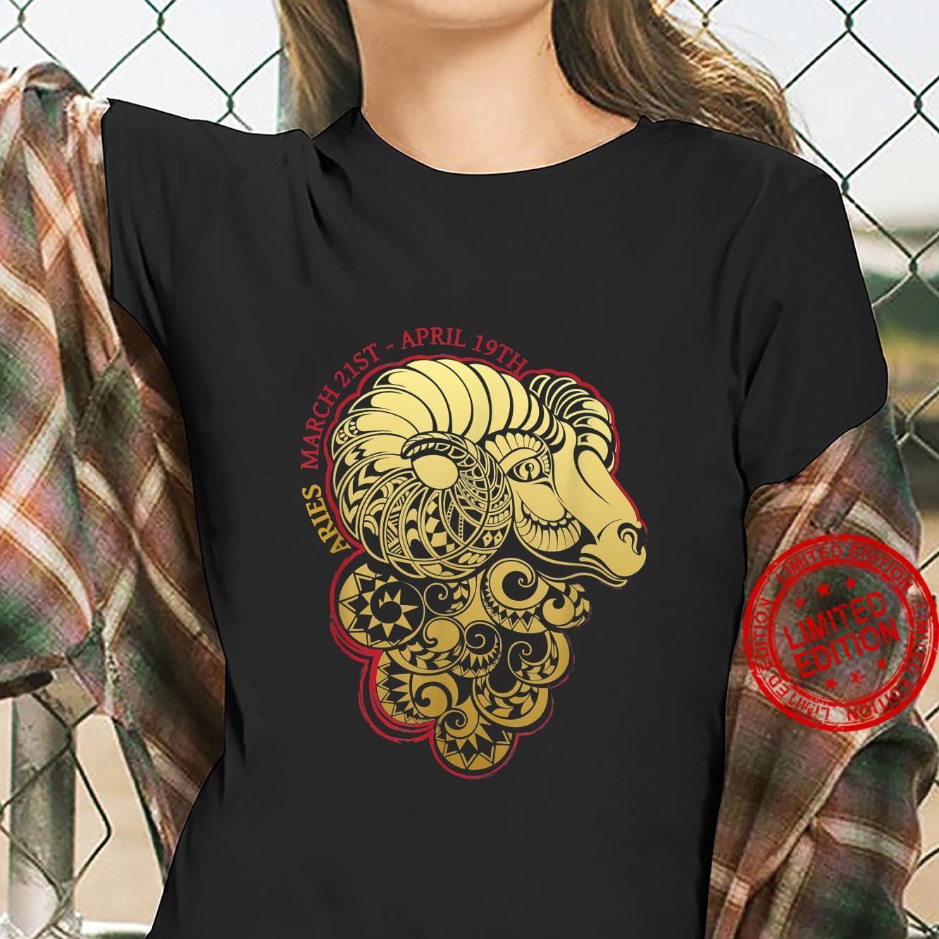Aries The Ram Zodiac Astrology Horoscope Shirt ladies tee