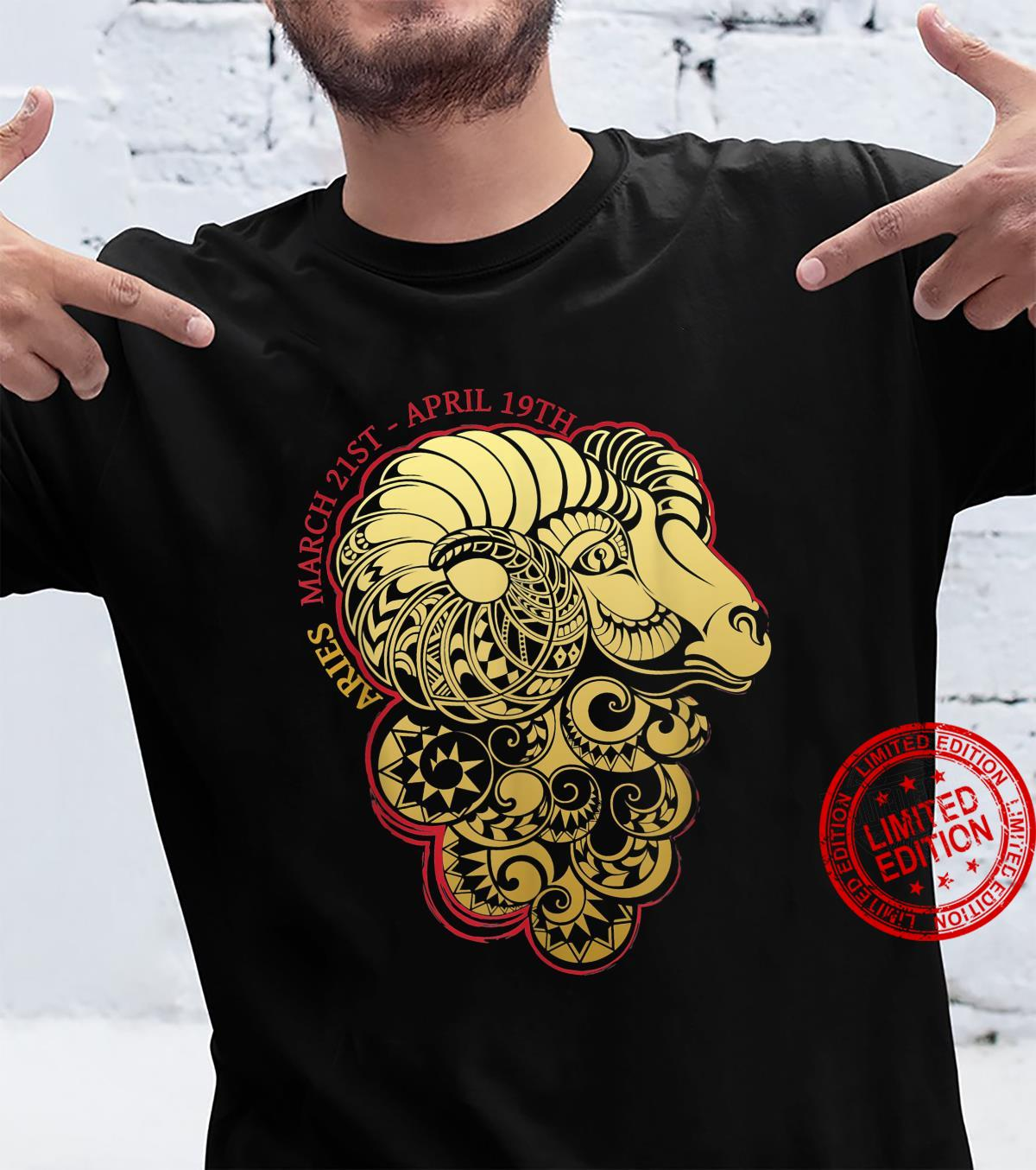 Aries The Ram Zodiac Astrology Horoscope Shirt