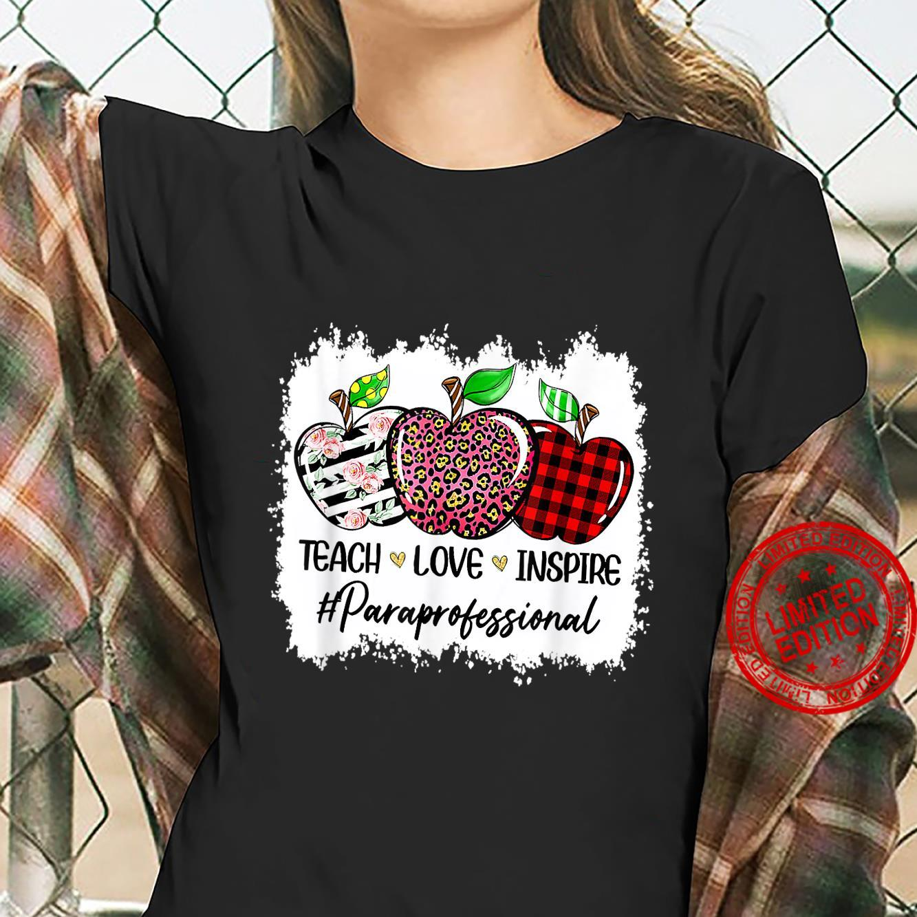 Back To School Paraprofessional For Teacher Student Shirt ladies tee
