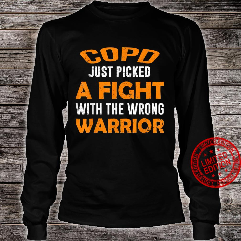 COPD JUST PICKED THE WRONG WARRIOR Shirt long sleeved