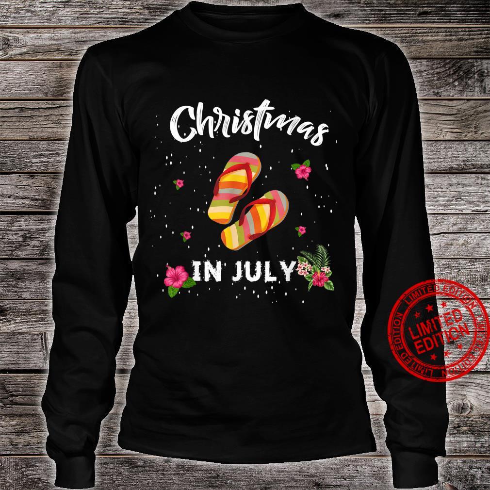 Funny Christmas In July Shirt Summer Beach Vacation Shirt long sleeved