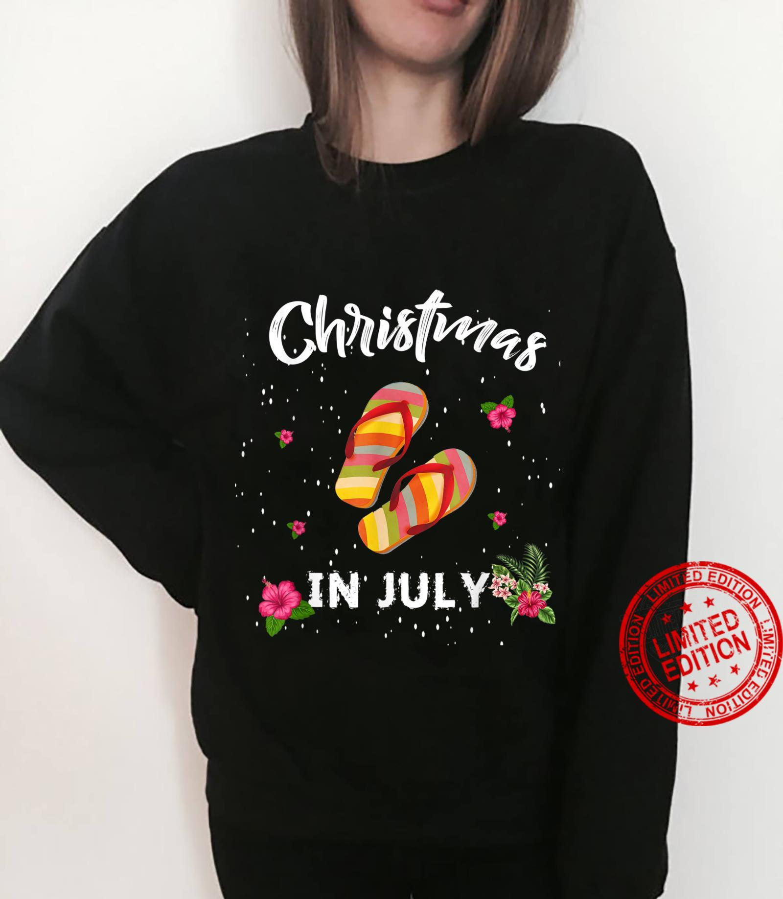 Funny Christmas In July Shirt Summer Beach Vacation Shirt sweater