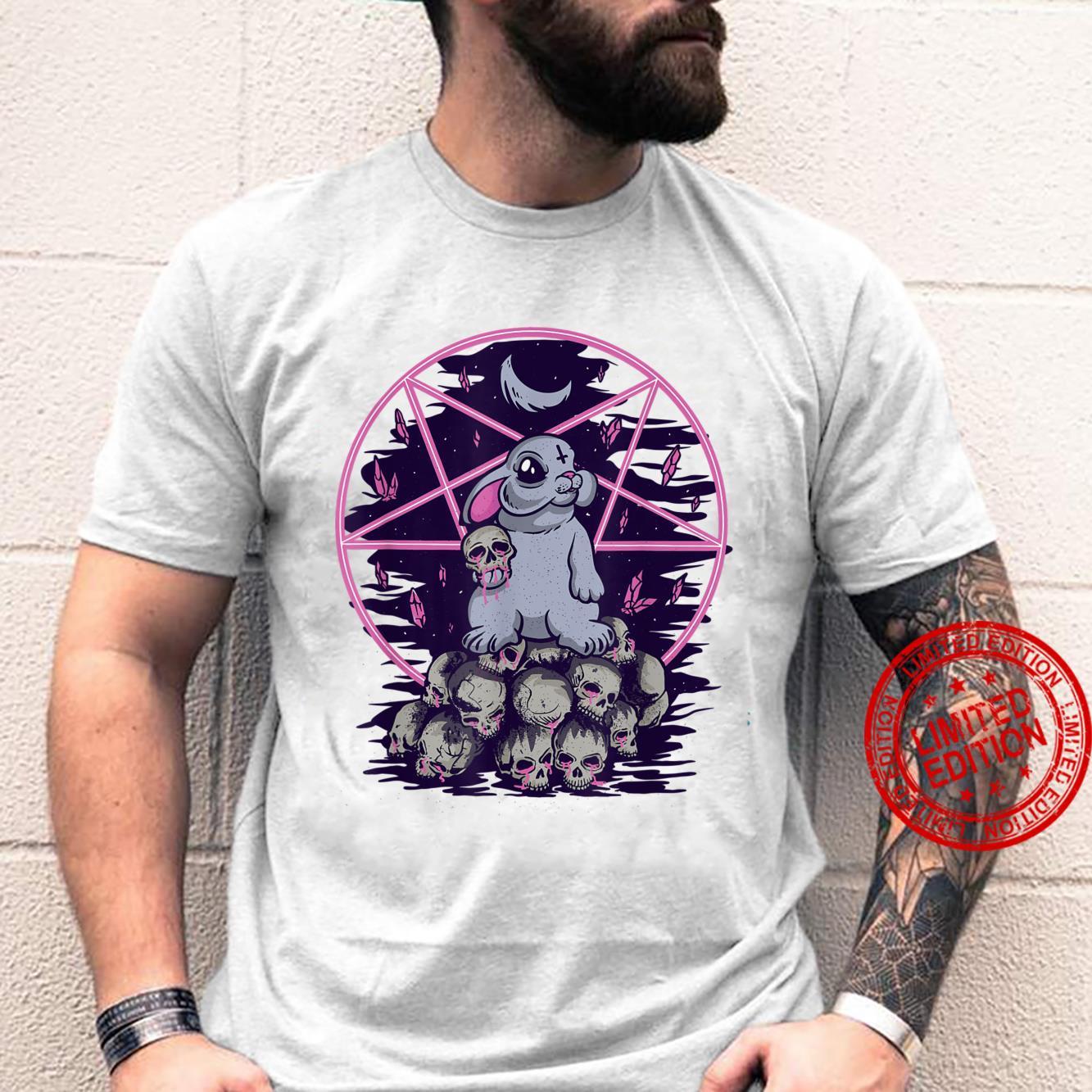 Goth Devil Rabbit Satanic Pastel Goth Emo Gothic Aesthetic Shirt