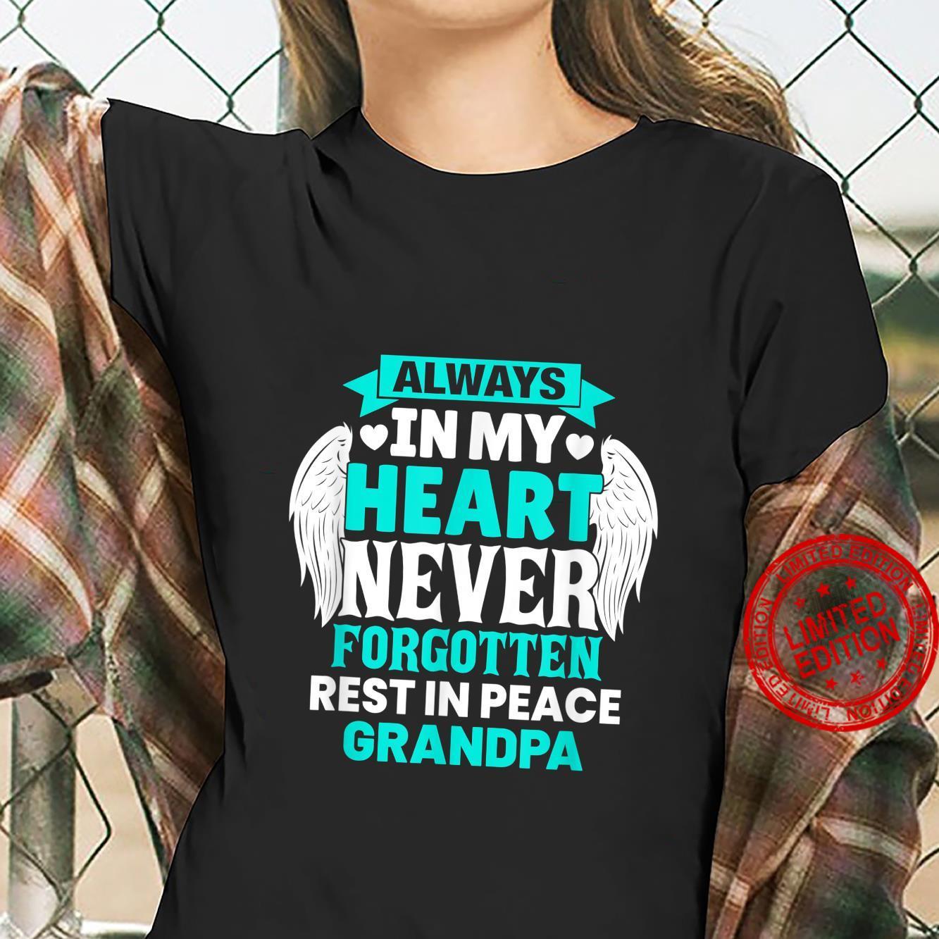 Grandpa In Heaven Family Member Memorial Shirt ladies tee