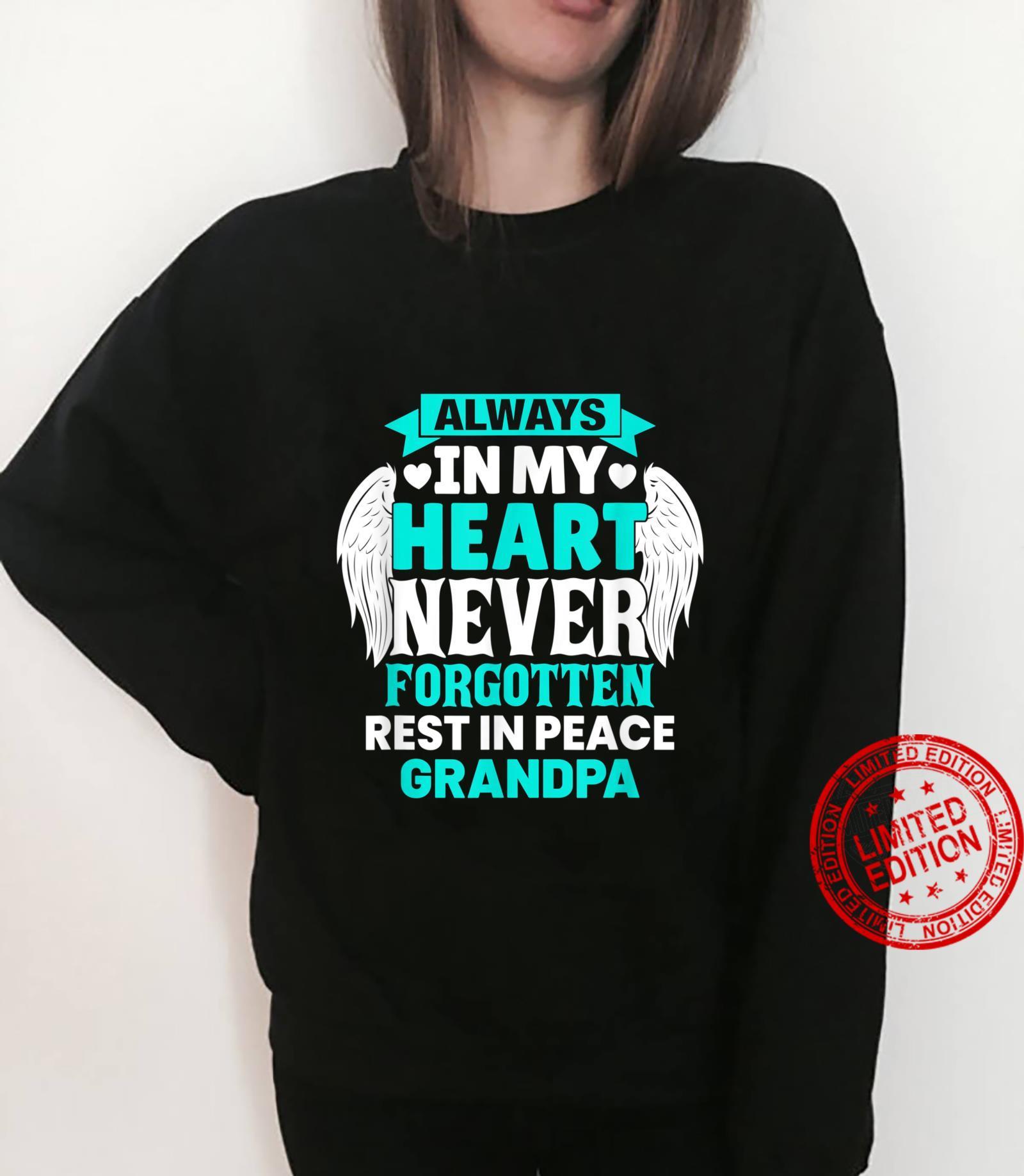 Grandpa In Heaven Family Member Memorial Shirt sweater