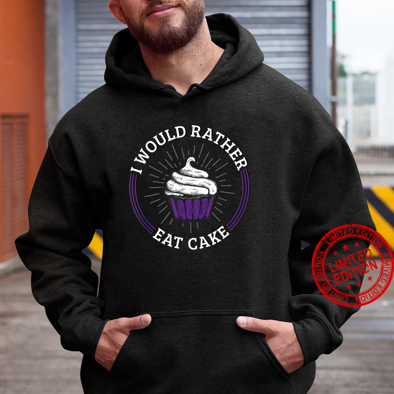 I'd Rather Eat Cake Asexual Aromatic Demisexual Pride Shirt hoodie