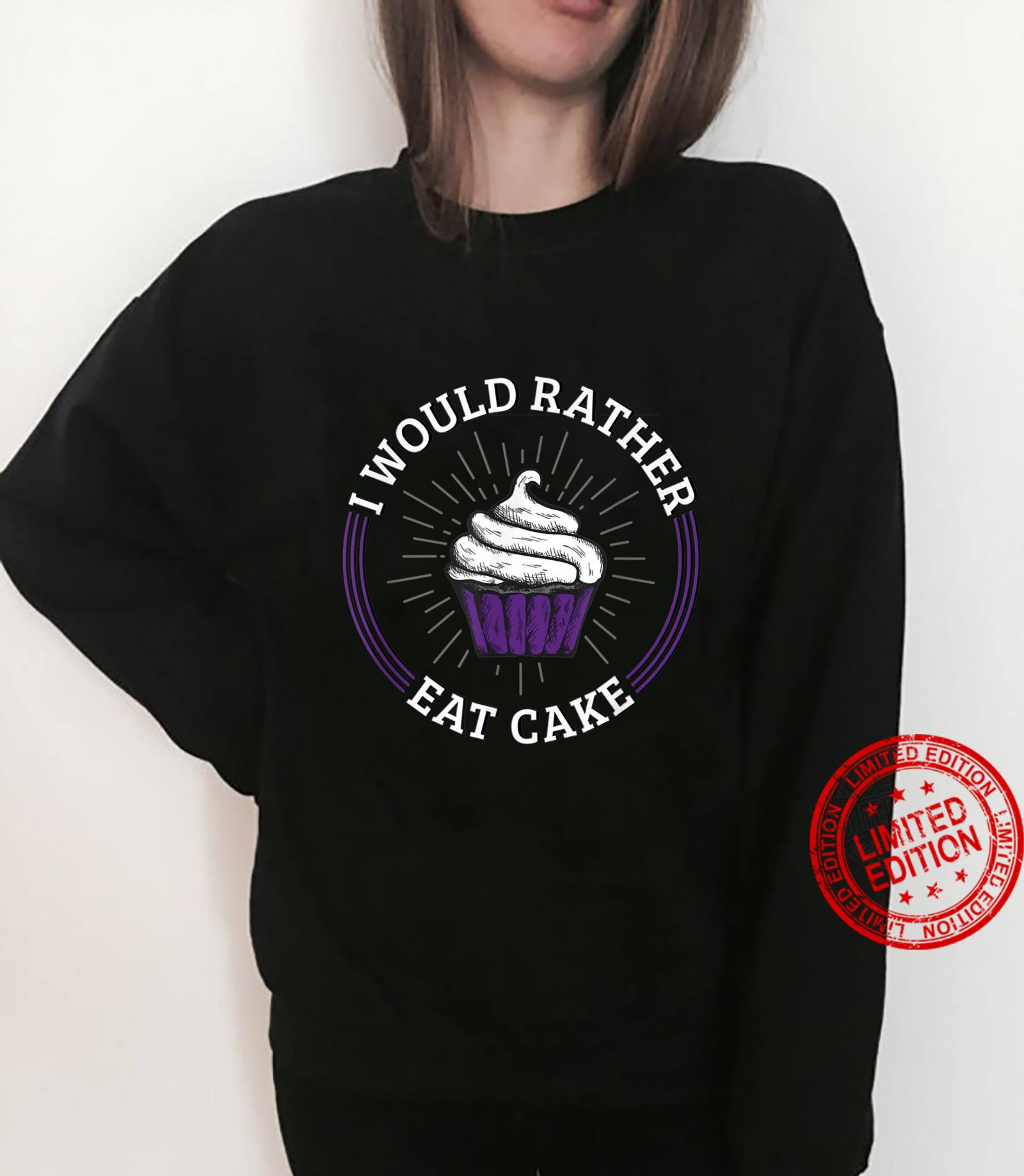 I'd Rather Eat Cake Asexual Aromatic Demisexual Pride Shirt sweater