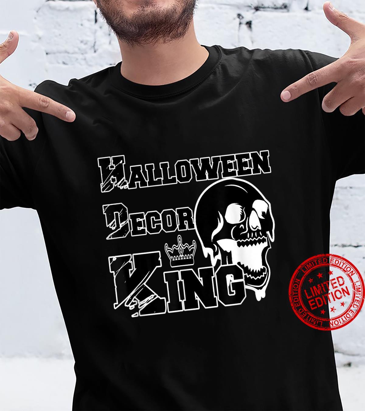 Mens Halloween Decor King Spooky Decorations Dad Husband Shirt