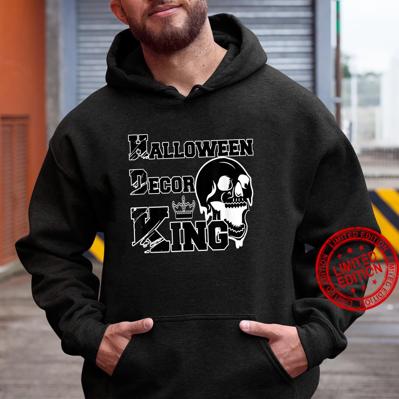 Mens Halloween Decor King Spooky Decorations Dad Husband Shirt hoodie