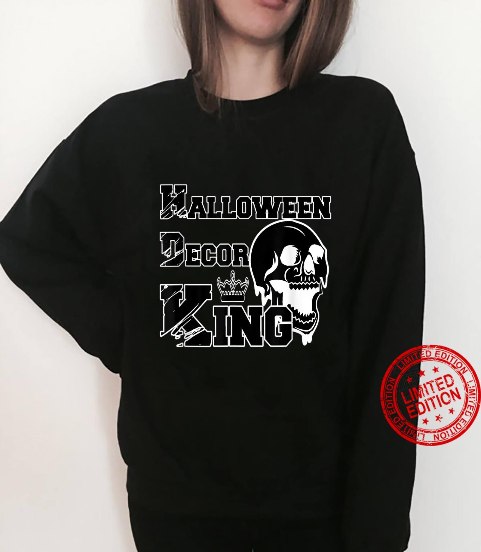 Mens Halloween Decor King Spooky Decorations Dad Husband Shirt sweater