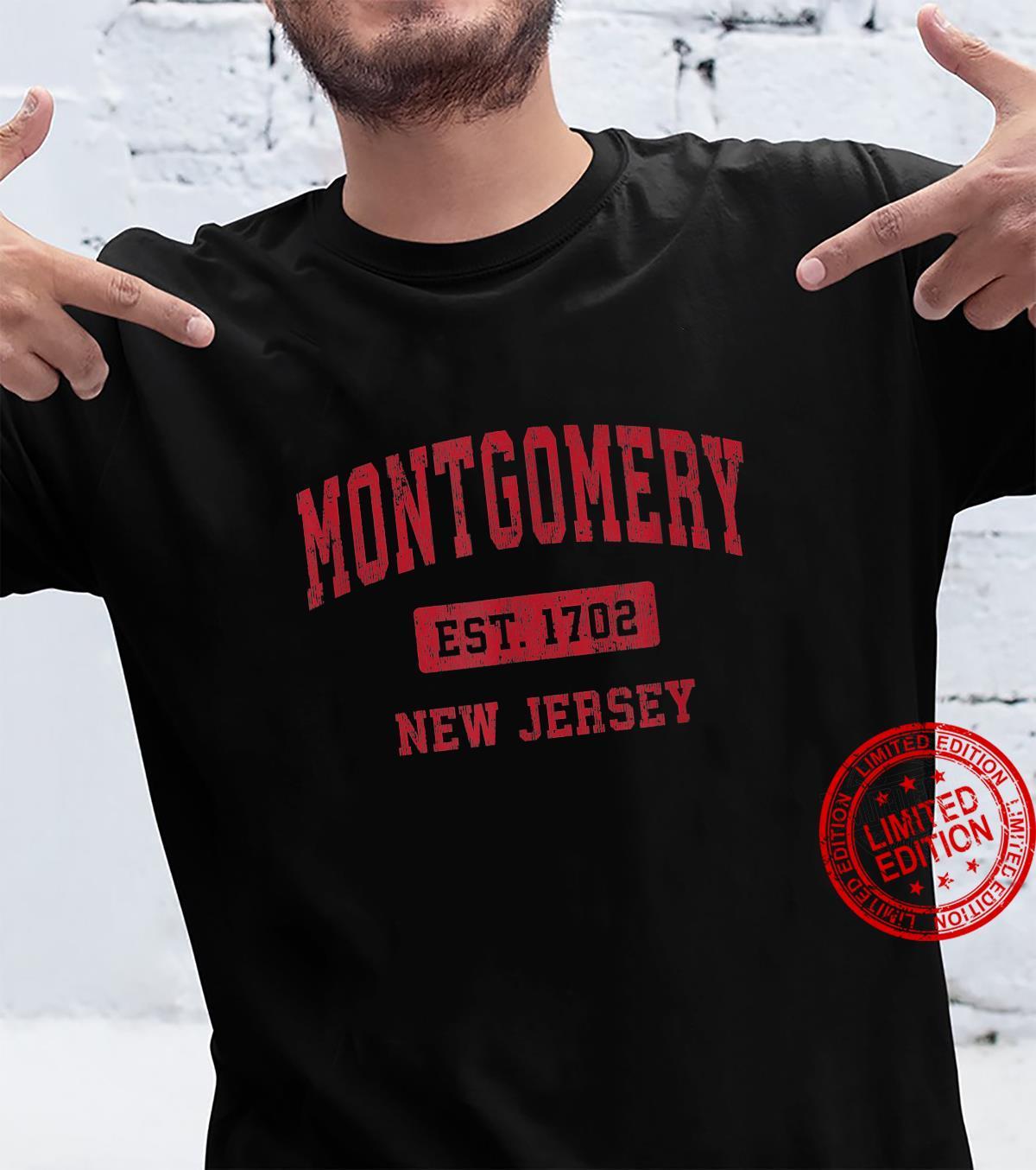 Montgomery New Jersey NJ Vintage Sports Design Red Design Shirt