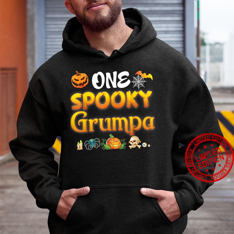 One Spooky Grumpa Scary Pumpkin Horor Halloween Ghost Creepy Shirt hoodie