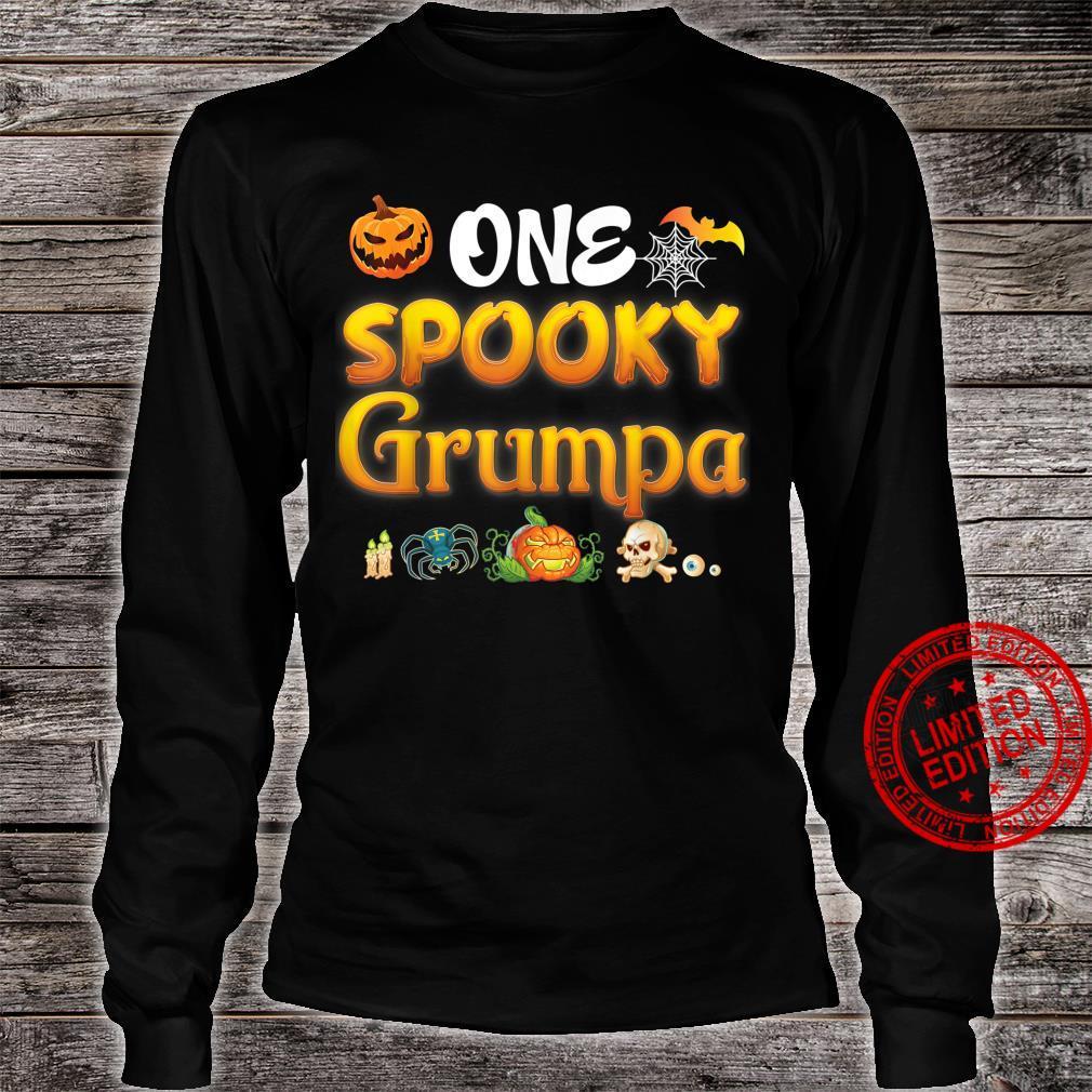 One Spooky Grumpa Scary Pumpkin Horor Halloween Ghost Creepy Shirt long sleeved
