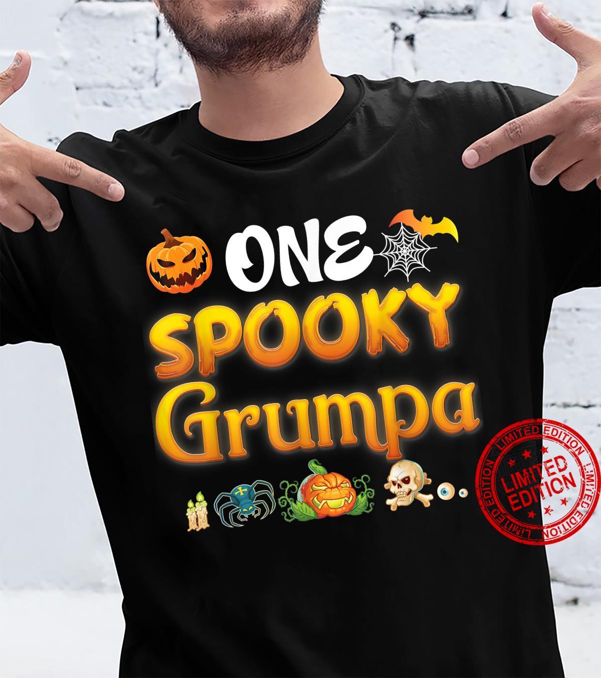 One Spooky Grumpa Scary Pumpkin Horor Halloween Ghost Creepy Shirt