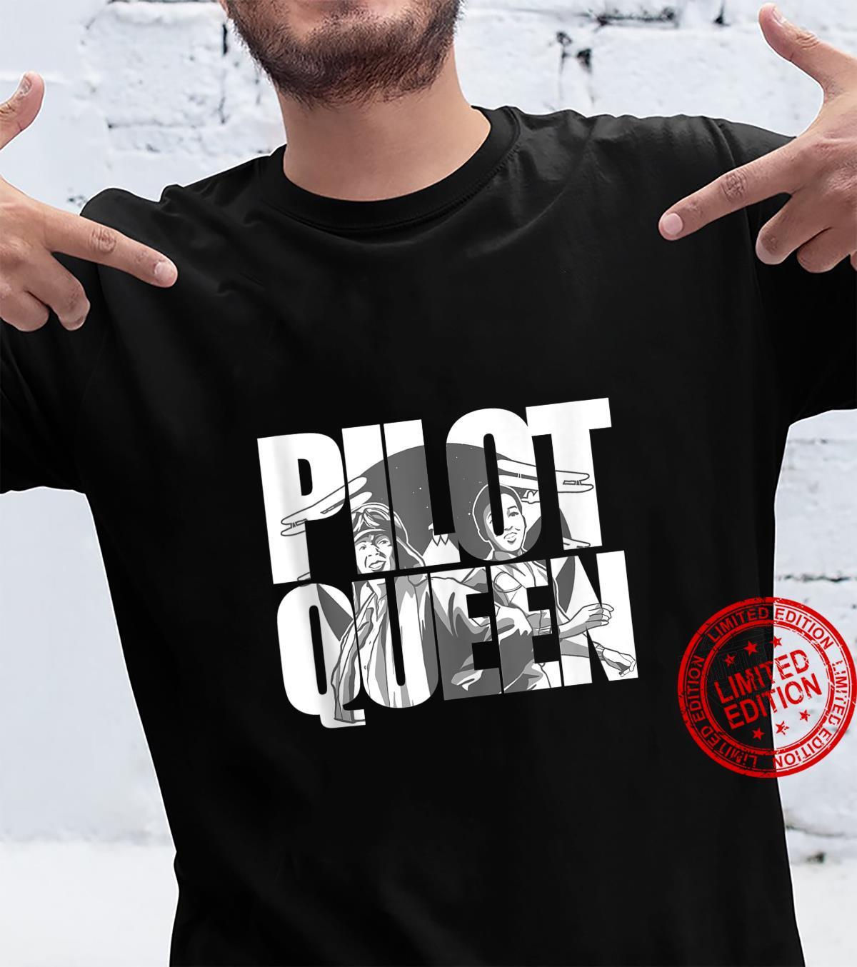 Pilot Queen Biplane Aviator's Prop Airplane Pilot Shirt