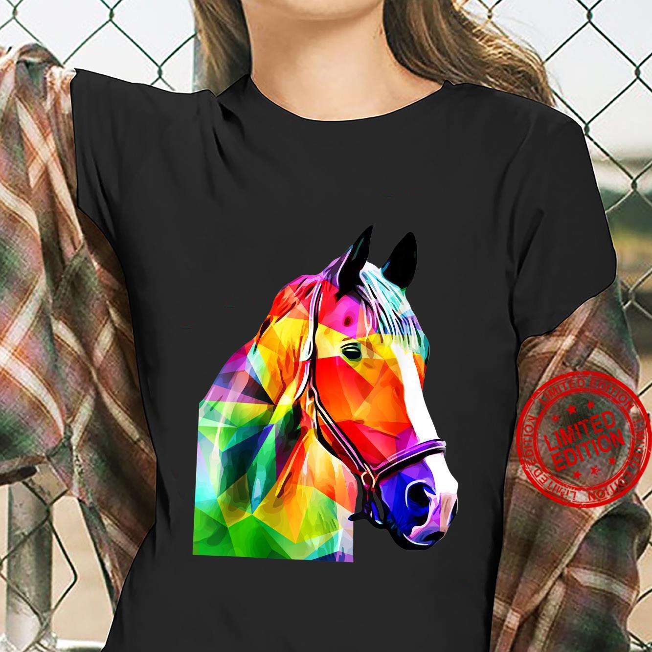 Pop Art Horse Horses Shirt ladies tee