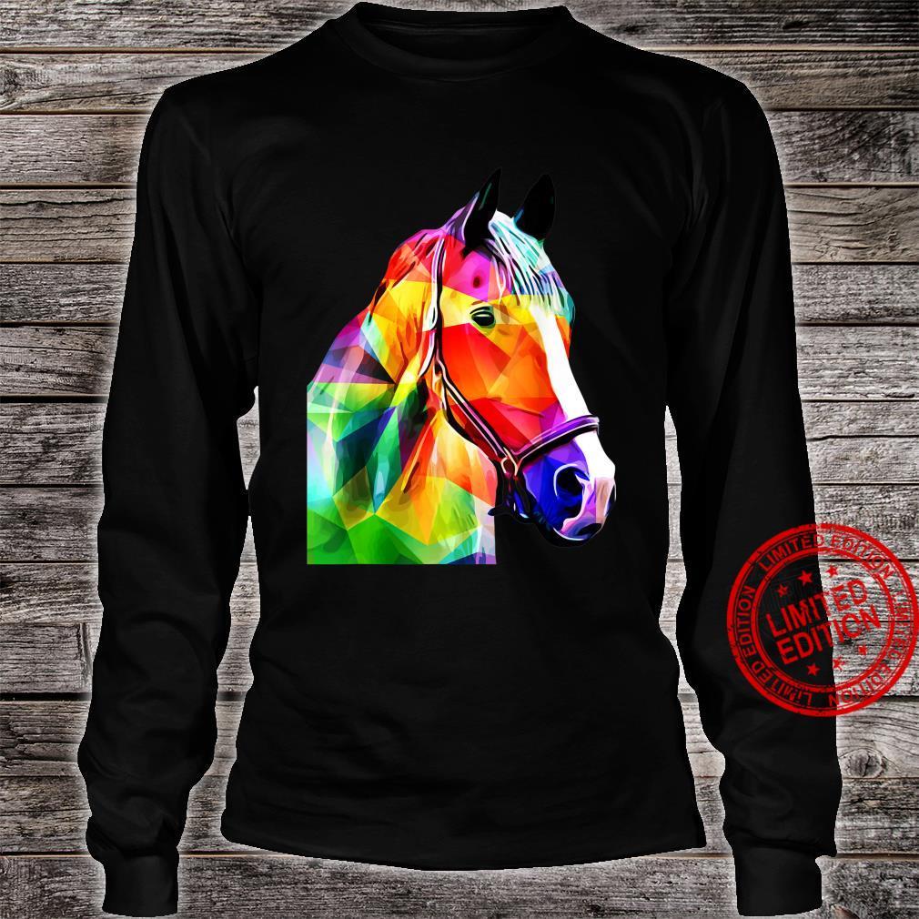Pop Art Horse Horses Shirt long sleeved