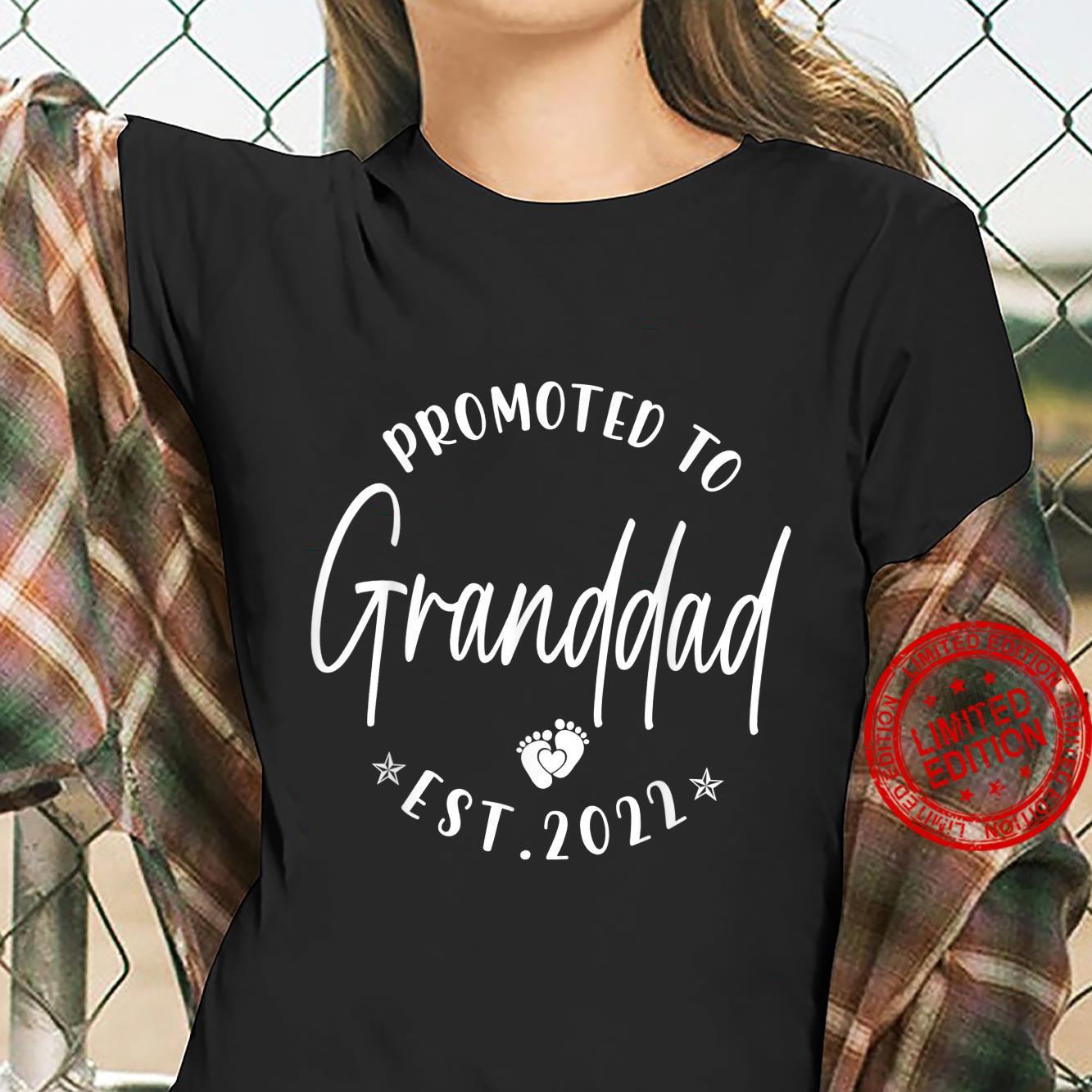 Promoted To Granddad Est 2022 Soon To Be Granddad Shirt ladies tee