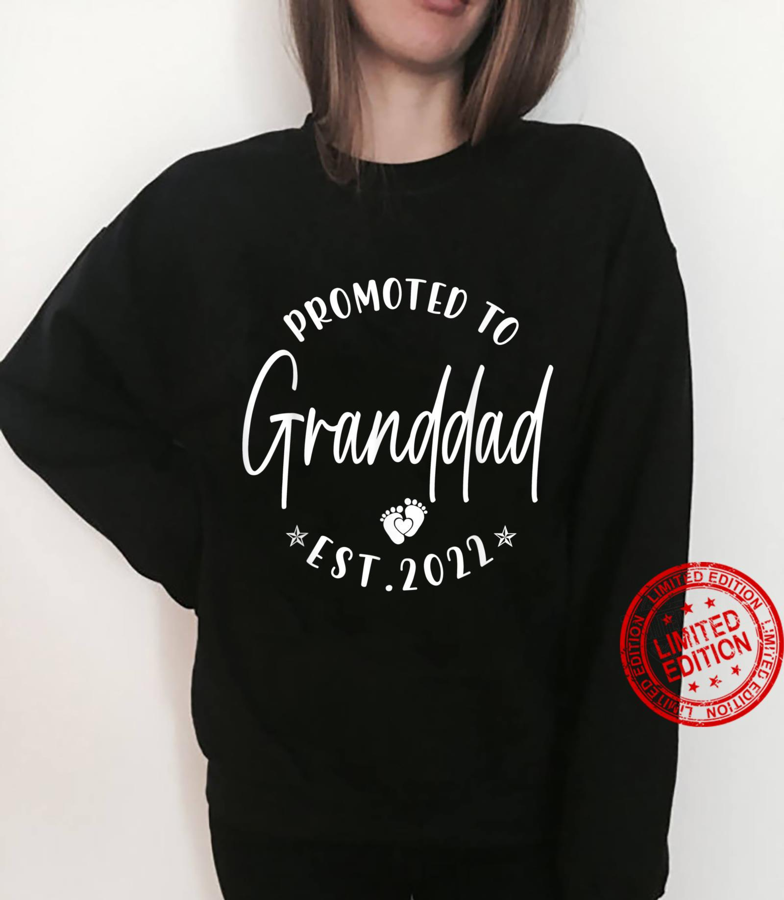 Promoted To Granddad Est 2022 Soon To Be Granddad Shirt sweater