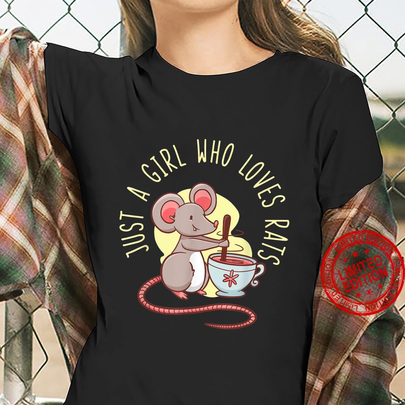 Rat For Girl Rodent Mouse Whisperer Shirt ladies tee