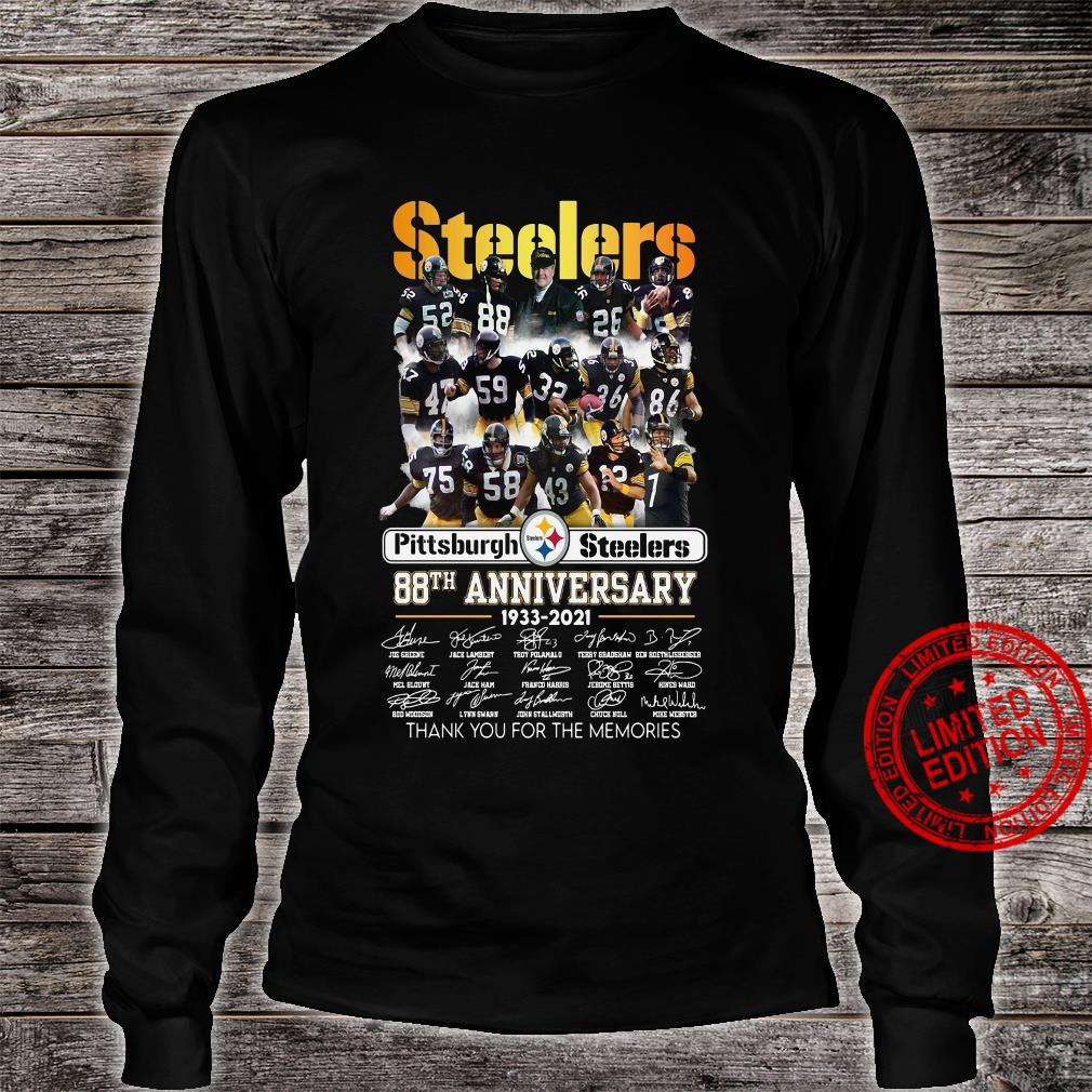 Steelers pittsburgh steelers 88th anniversary 1933 2021 thank you for the memories shirt long sleeved