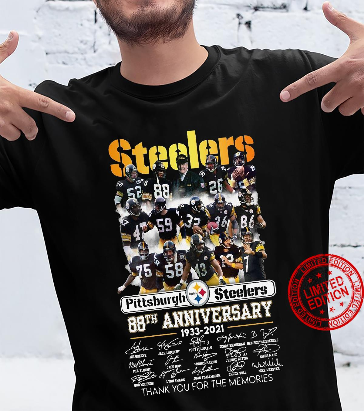 Steelers pittsburgh steelers 88th anniversary 1933 2021 thank you for the memories shirt