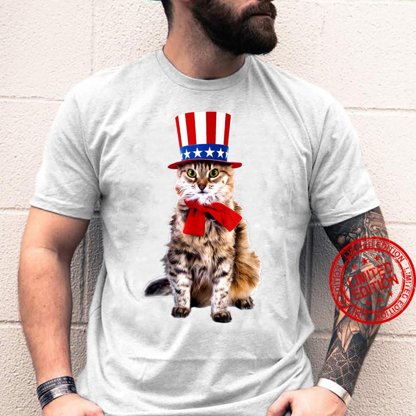Trendy Americana Fourth Of July Cat Shirt