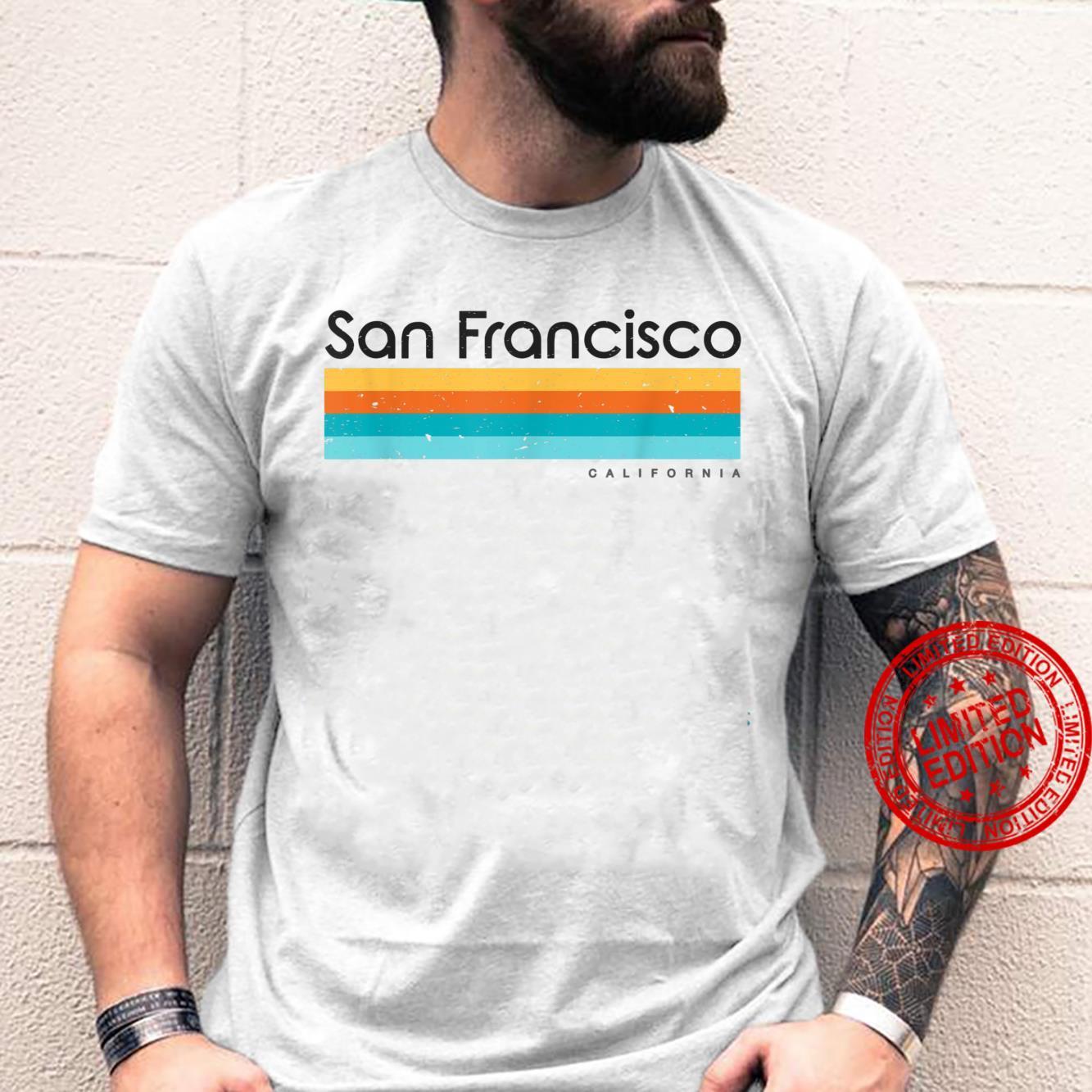 Vintage San Francisco California CA Retro Design Shirt