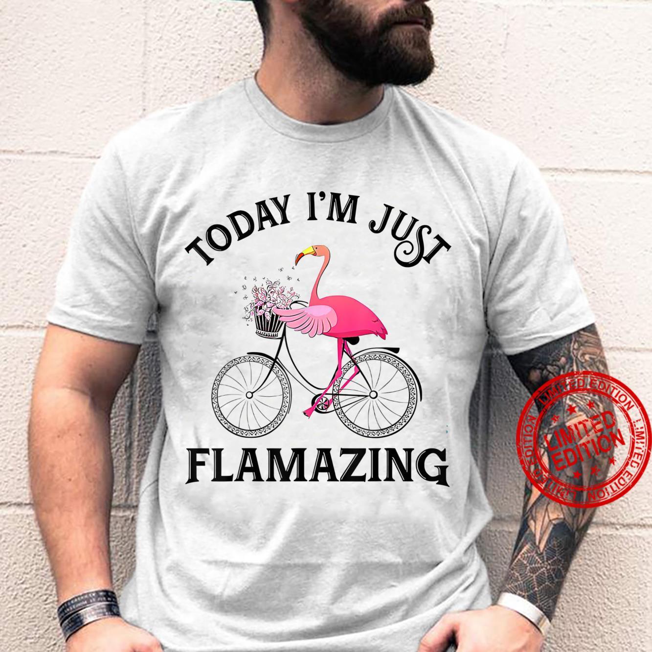 Women Today I'm Just Flamazing Flamingo Cycling Bicycle Shirt