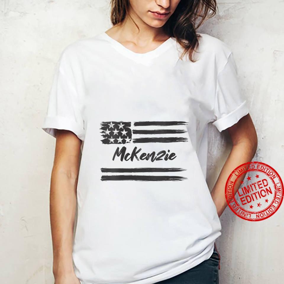 Womens McKenzie Personalized Name, Stars and Stripes, USA Flag Shirt ladies tee
