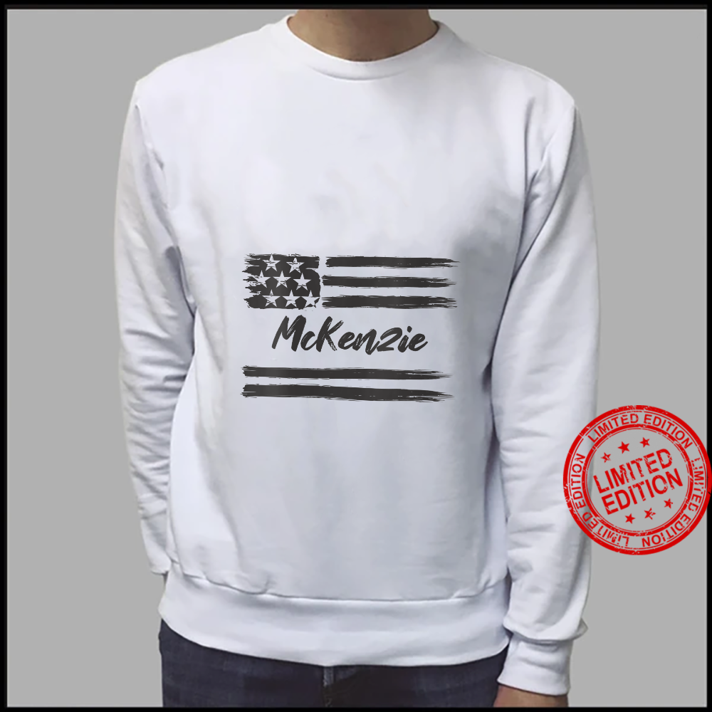 Womens McKenzie Personalized Name, Stars and Stripes, USA Flag Shirt sweater