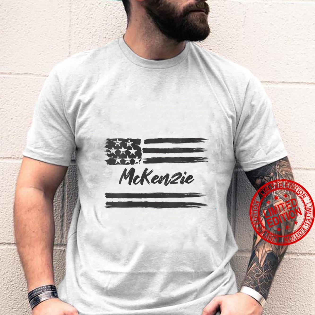 Womens McKenzie Personalized Name, Stars and Stripes, USA Flag Shirt