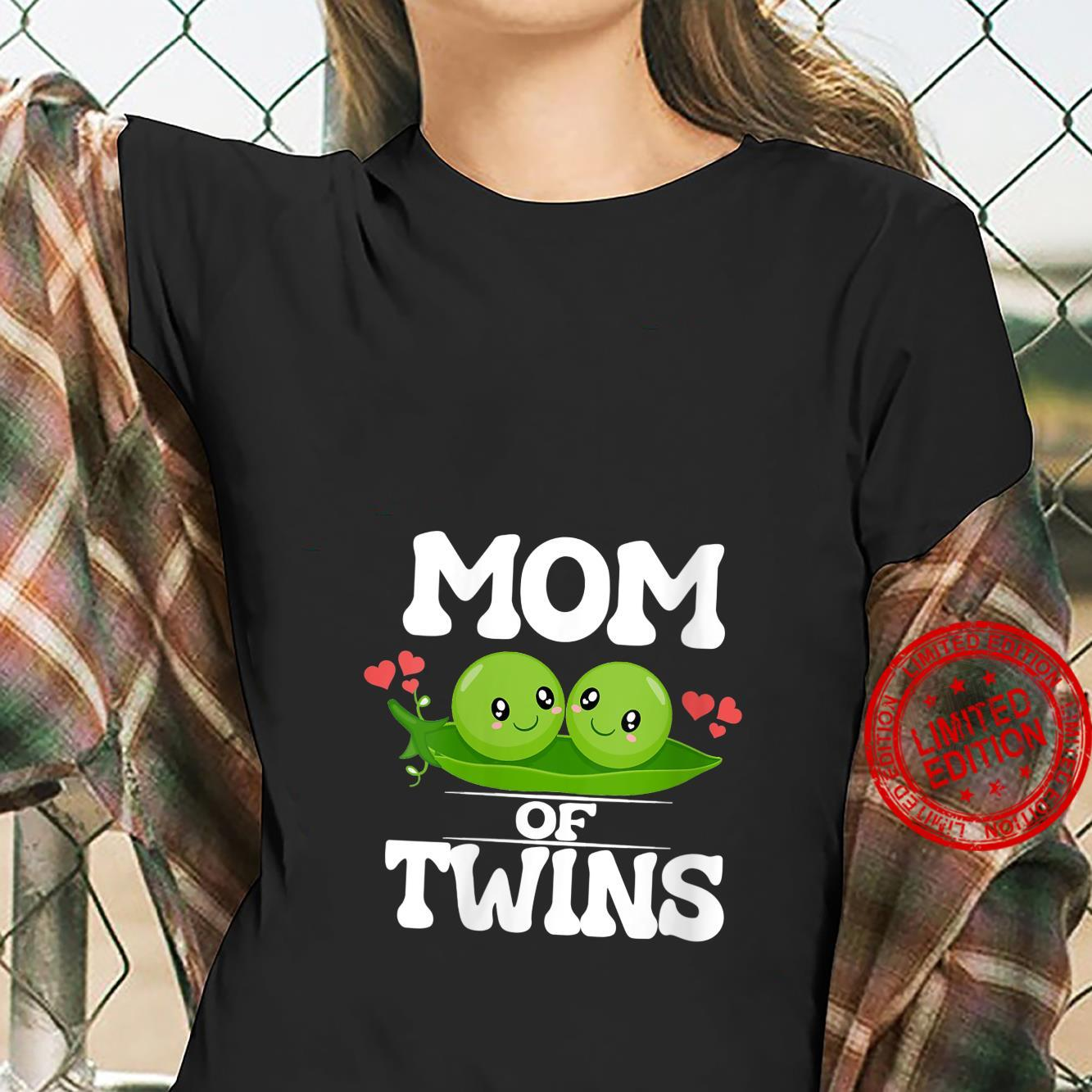 Womens Mom Of Twins Mother Shirt ladies tee