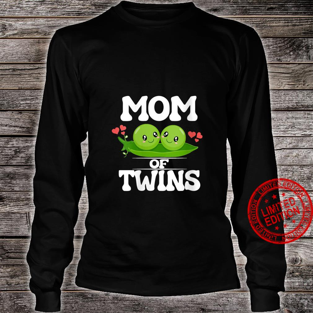 Womens Mom Of Twins Mother Shirt long sleeved