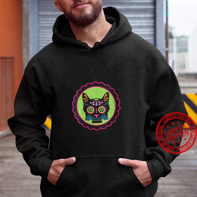 Womens Sugar Skull Kitty Shirt hoodie