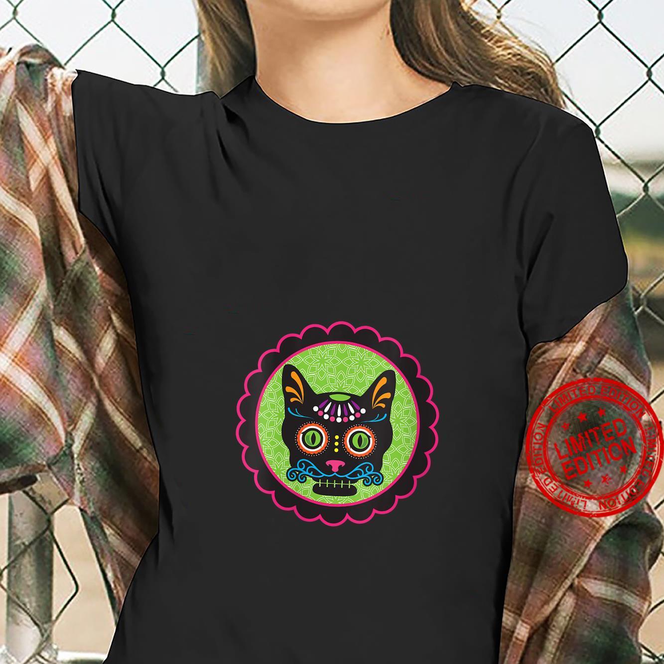 Womens Sugar Skull Kitty Shirt ladies tee
