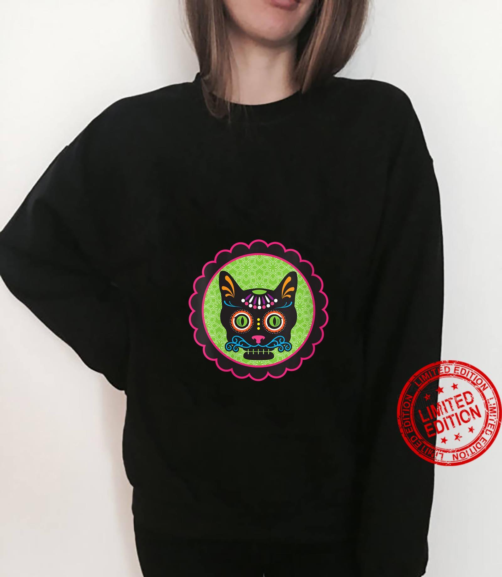 Womens Sugar Skull Kitty Shirt sweater