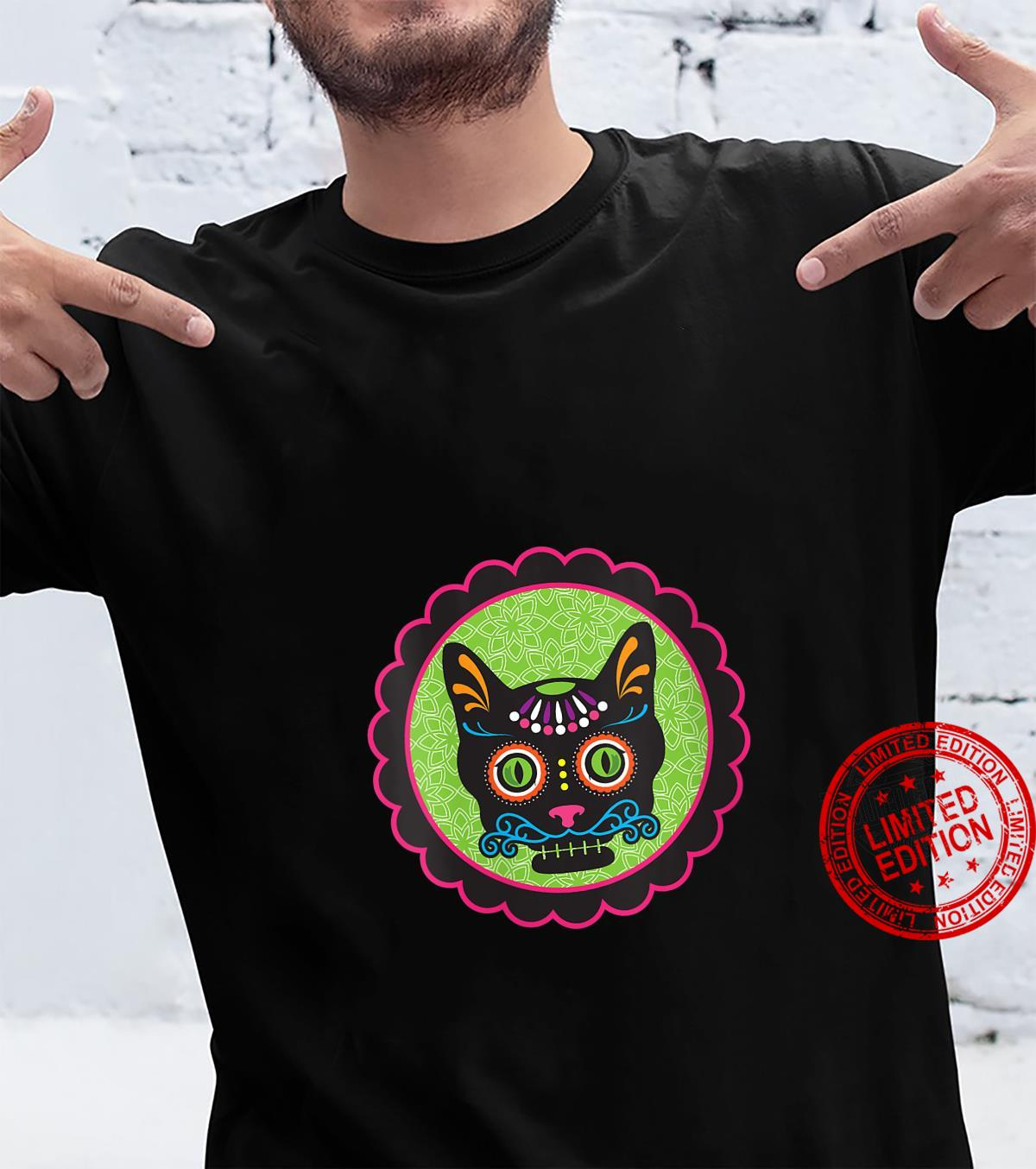 Womens Sugar Skull Kitty Shirt