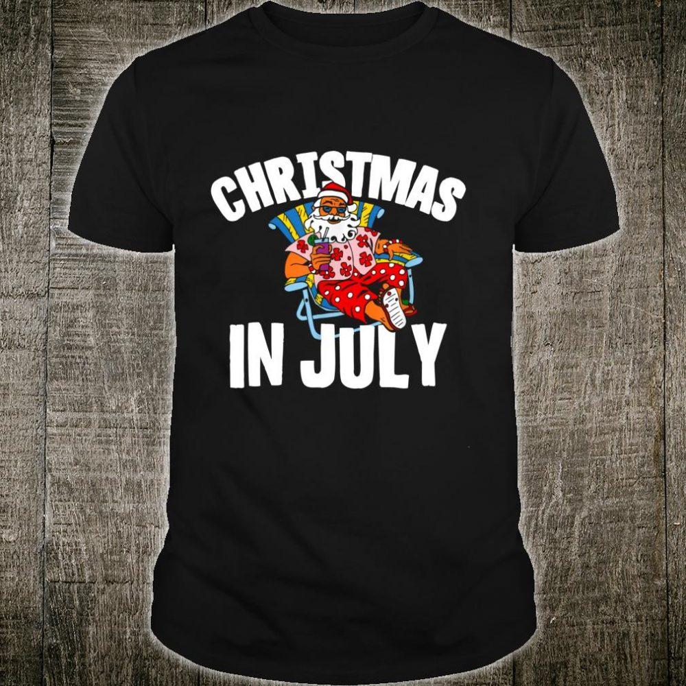 Christmas In July Santa Birthday Costume Cute Shirt