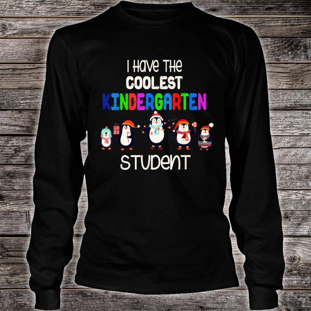 Christmas i have the coolest kindergarten student penguin Shirt long sleeved