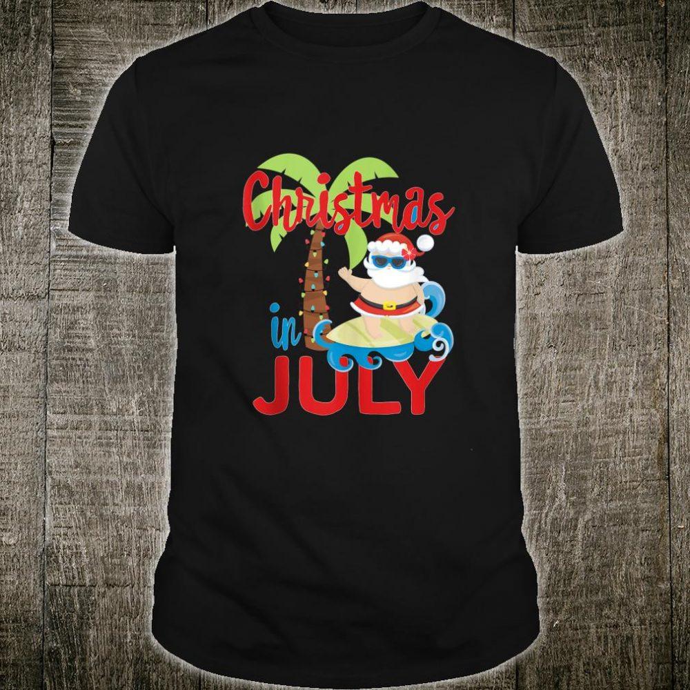 Christmas in July Summer Fun Santa Shirt