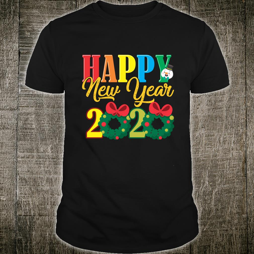 Happy New Year 2020 Funny.Funny Happy New Year 2020 Colorful Xmas Christmas Shirt