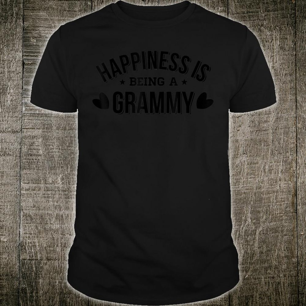 Happiness Is Being a Grammy New Grandma To Be Shirt