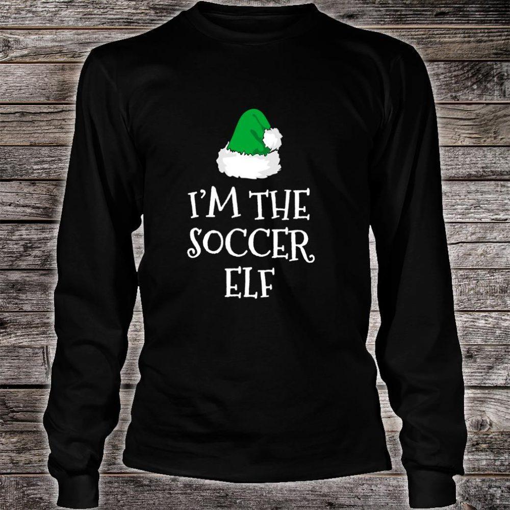 I'm The Soccer Elf Family Christmas Player Shirt long sleeved