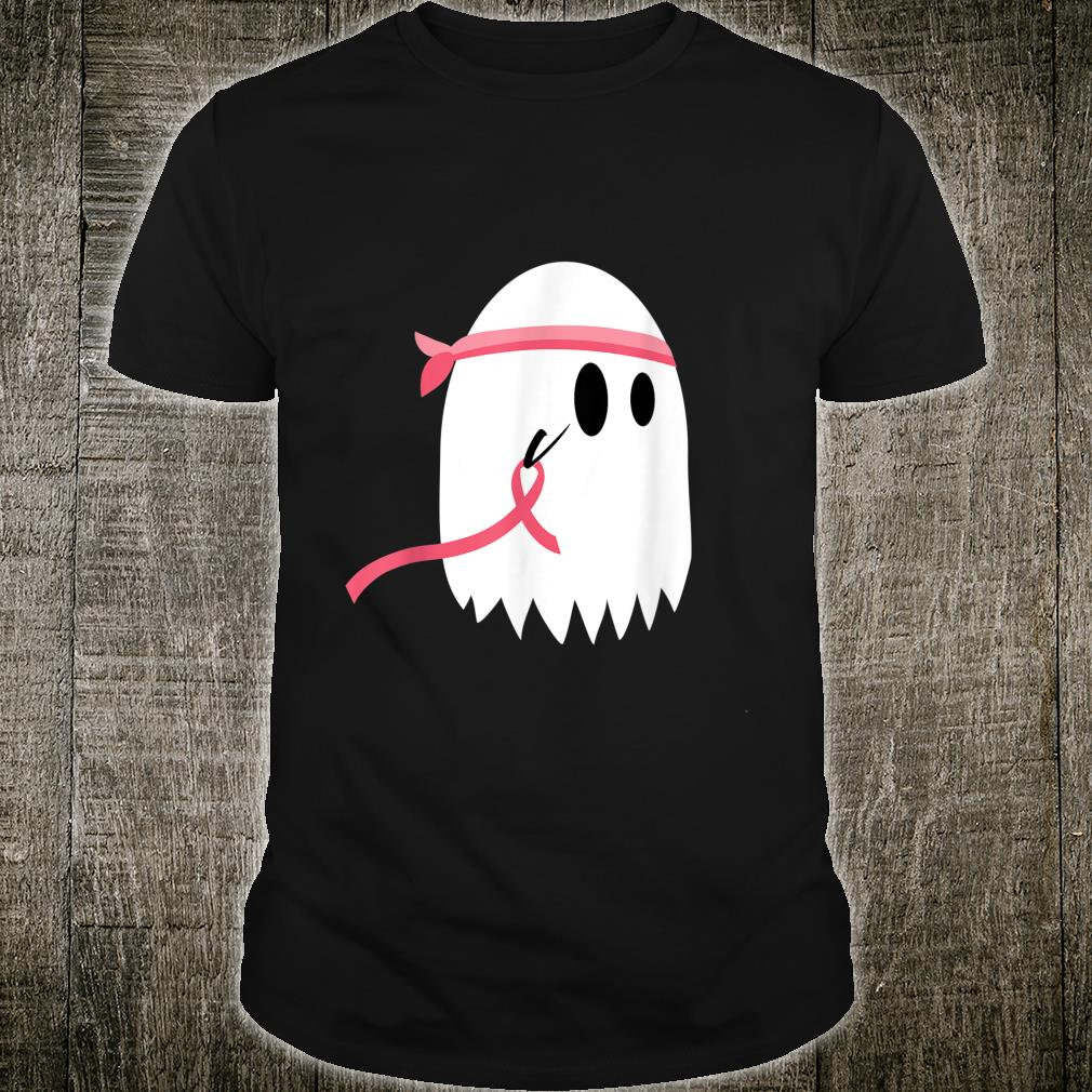 In October We Wear Pink Ribbon Ghost Boo Halloween Shirt
