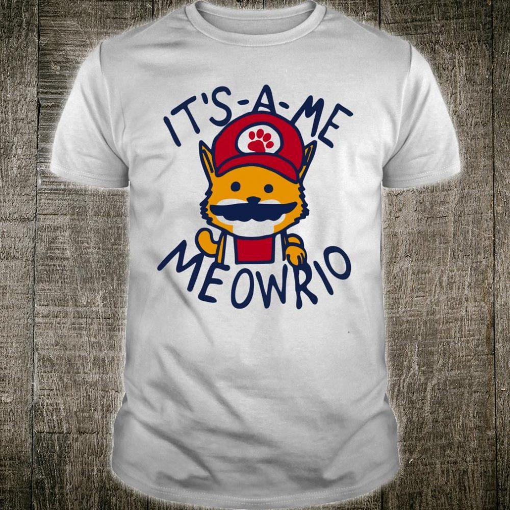 Its A Me Meowrio Cat Shirt