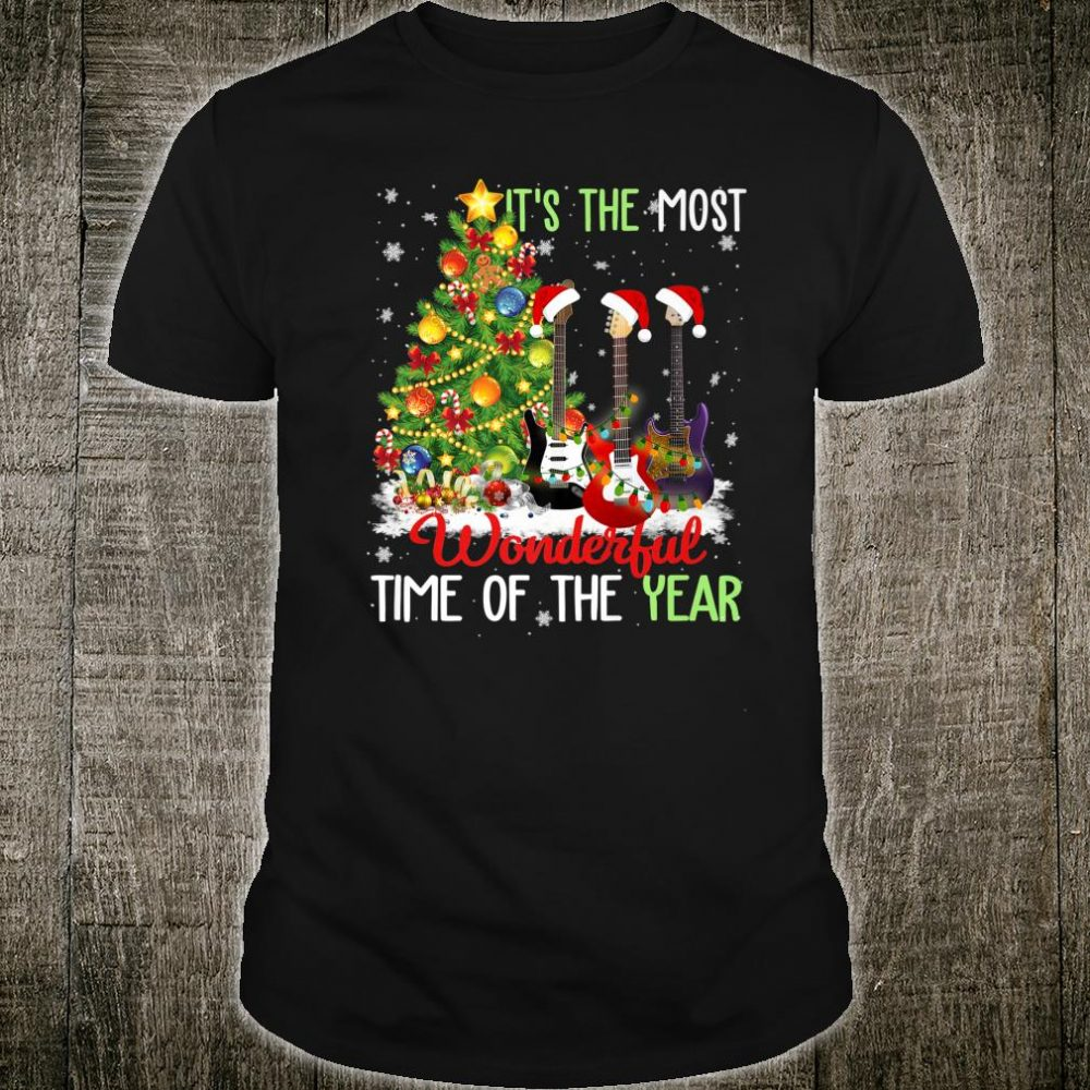 It's The Most Wonderful Time Of The Year Bass Guitar Xmas Shirt