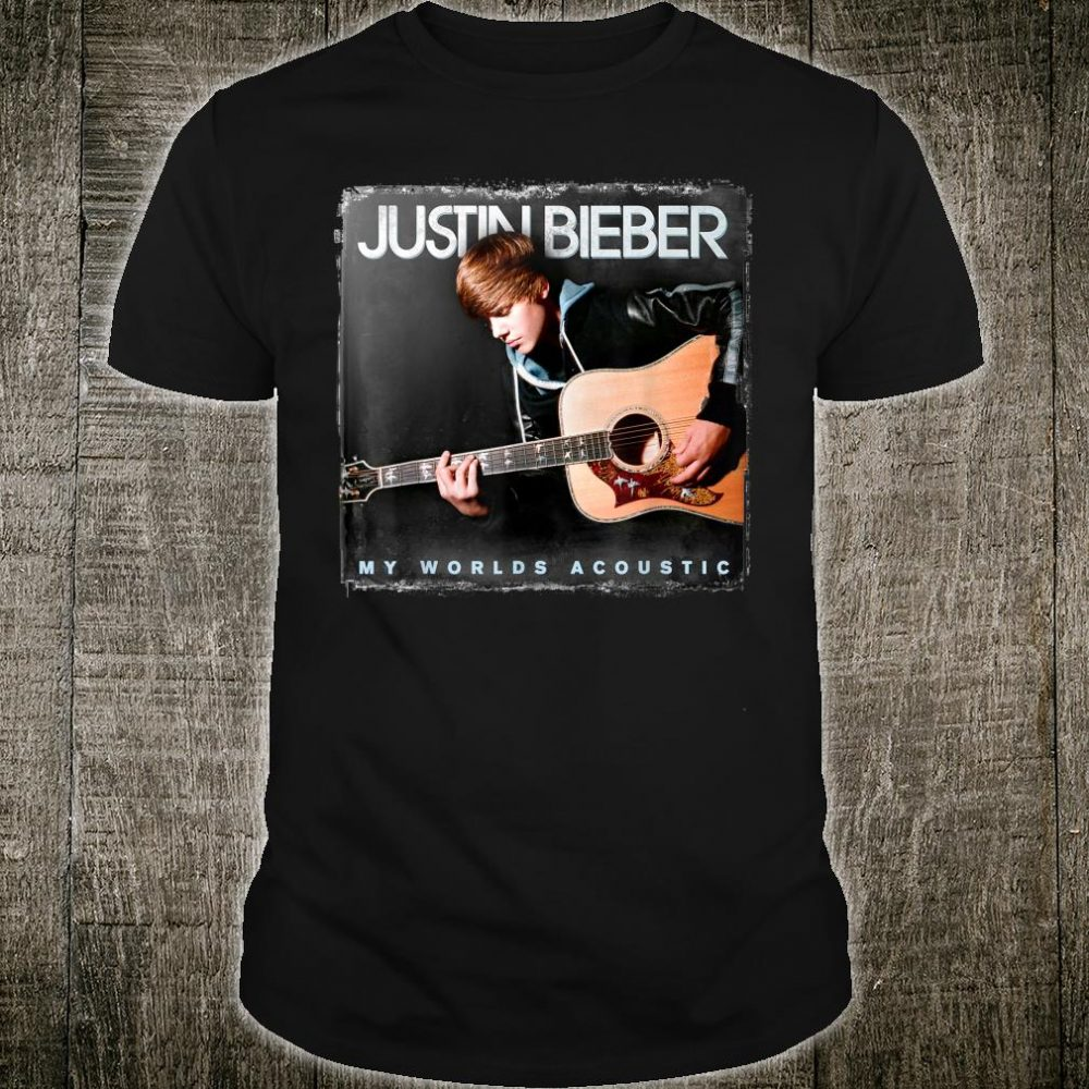 Justin Bieber Official My World Acoustic Album Cover Shirt