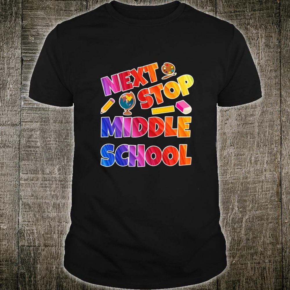 Kids Next Stop Middle School Graduation 100th day of school Shirt